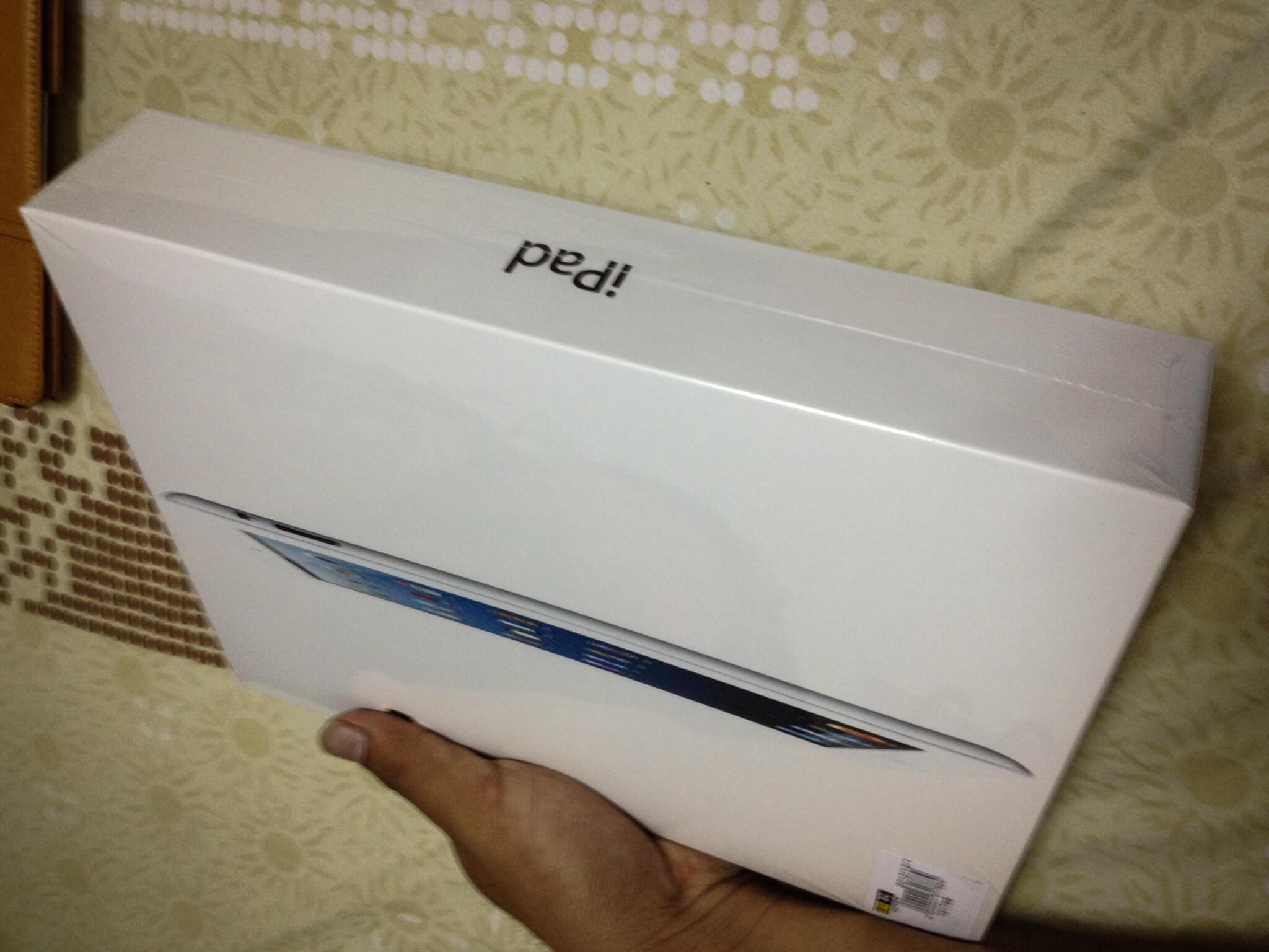 準備開箱的 iPad