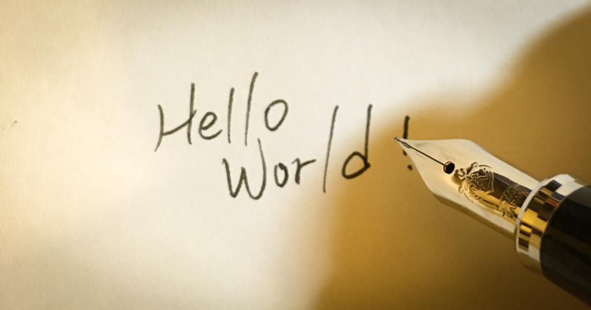 身為 攻城獅,當然要先寫 Hello World 呀
