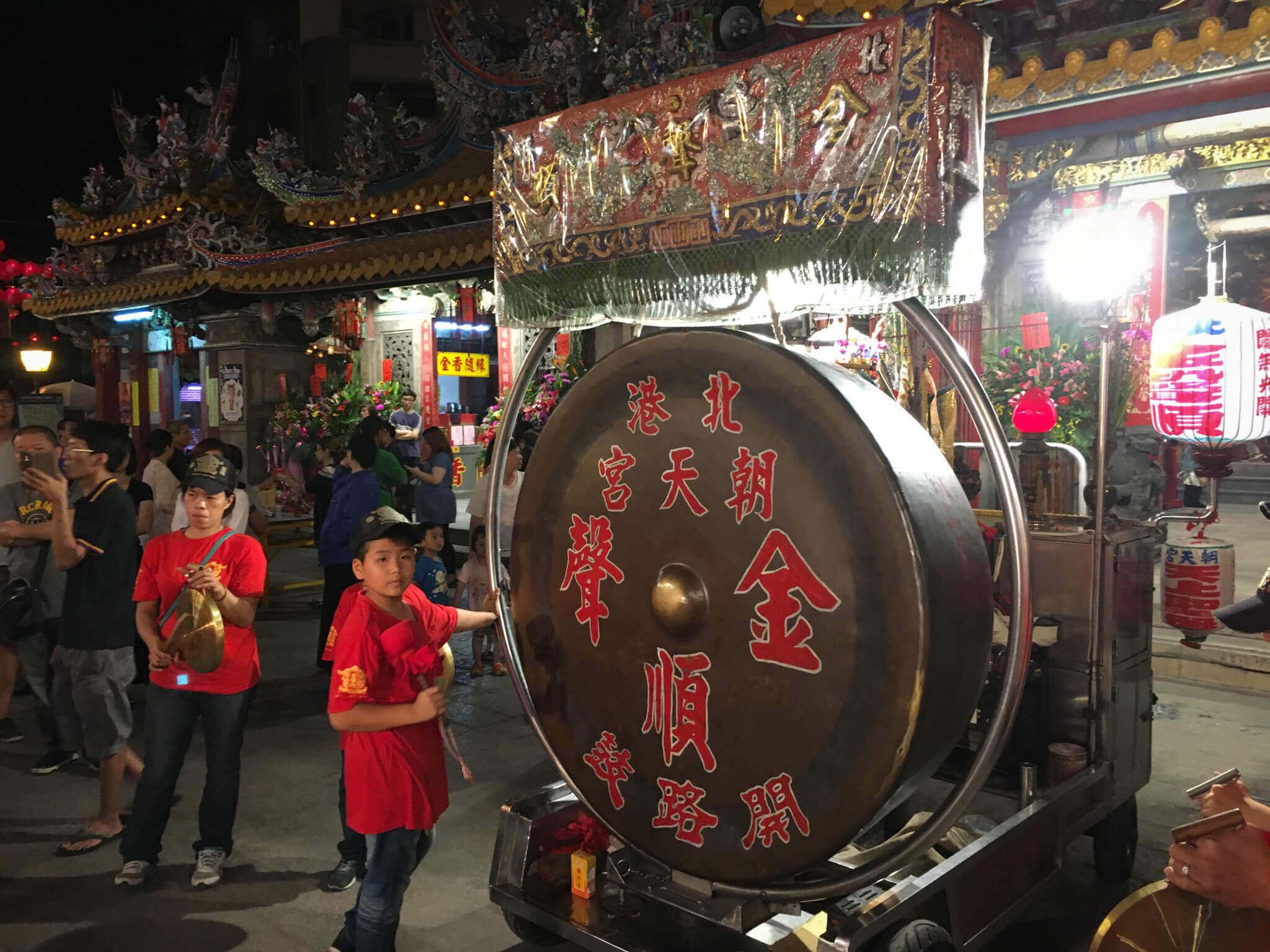 金聲順於 3月 19前晚先行起馬儀式(吳政賢 攝)