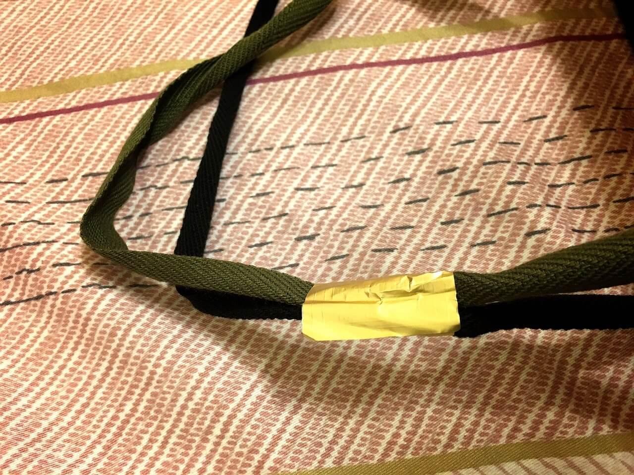 提袋上還用 Porter 金色的貼紙封著