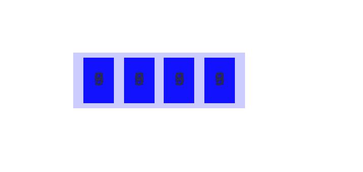 瀏覽器畫面 span 內的 i 都疊在一起了