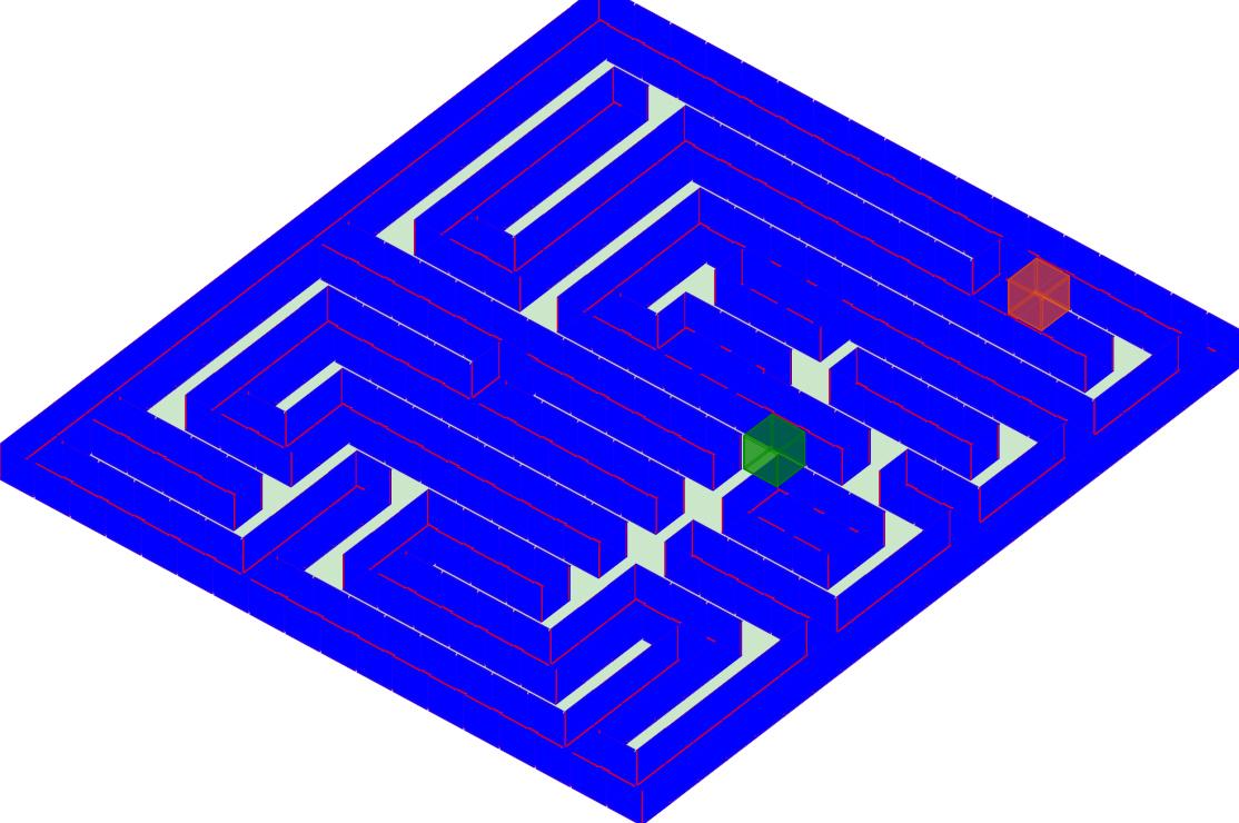 二維陣列製作的迷宮,參考老鼠走迷宮,在網頁上更可以利用 JavaScript 去監聽鍵盤 keydown 的按鍵以實作上、下、左、右的反應