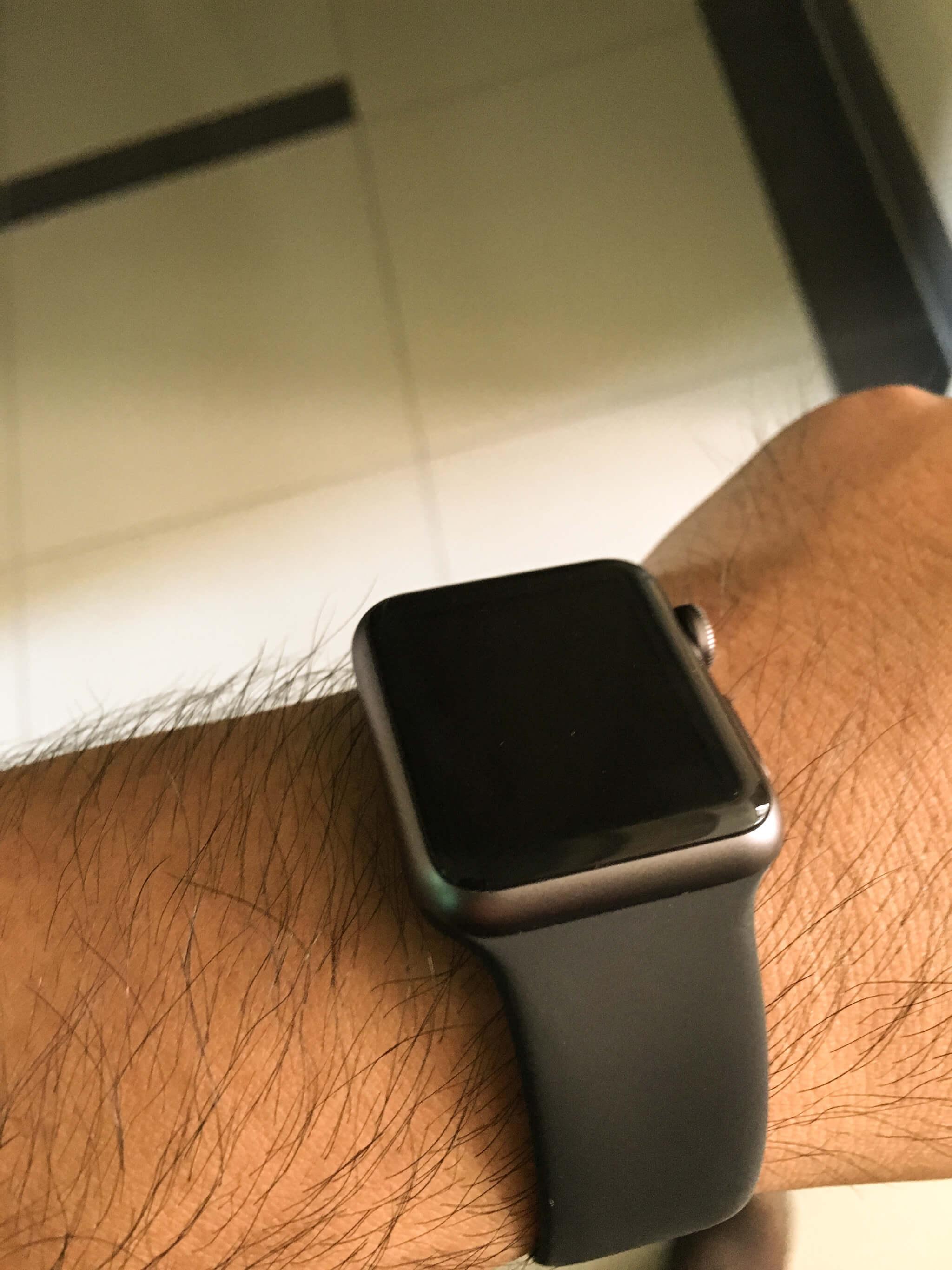 待機中的 Apple Watch