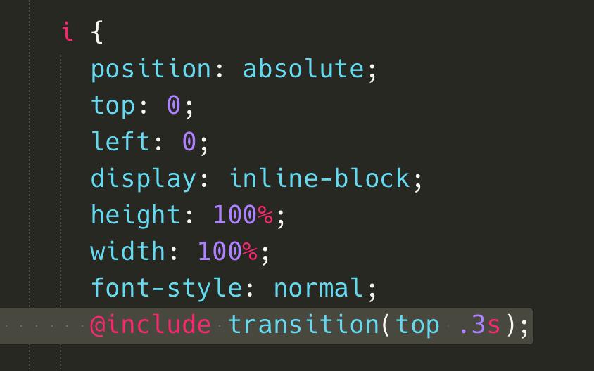 加上 transition 優化 top 移動的效果