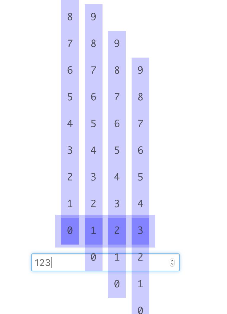瀏覽器畫面,可以讓使用者輸入數字時改變計數器