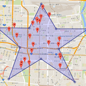 在 Google Maps 內多邊形取點 Point in Polygon - OA Wu's Blog