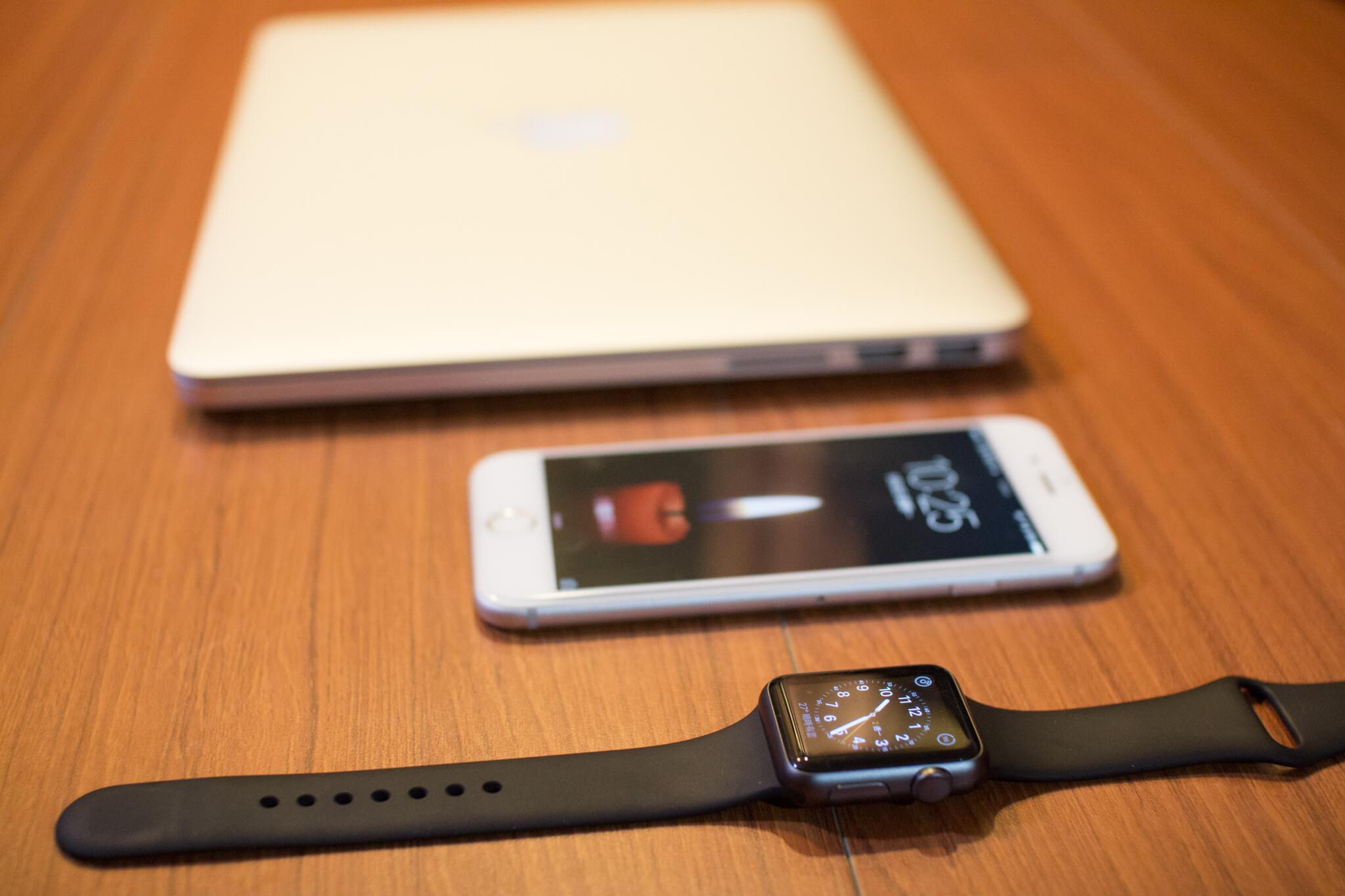 MacBook Pro、iPhone 6s、Apple Watch Sport